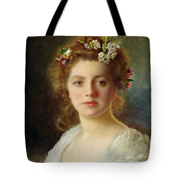 Flora Tote Bag by Gustave Jacquet