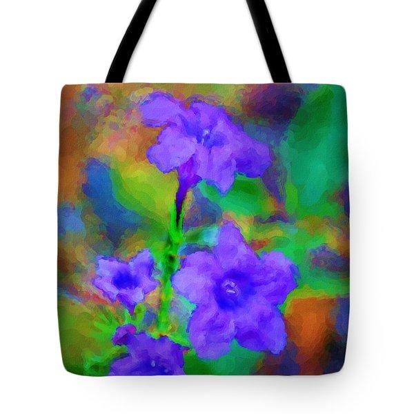 Floral Expression Tote Bag by David Lane