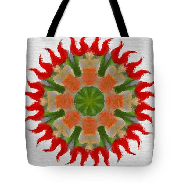Floral Flare Tote Bag by Jeff Kolker