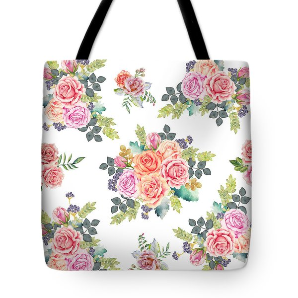 Floral Pattern 4 Tote Bag by Stanley Wong