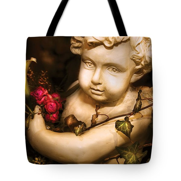 Flower - Rose - The Cherub  Tote Bag by Mike Savad