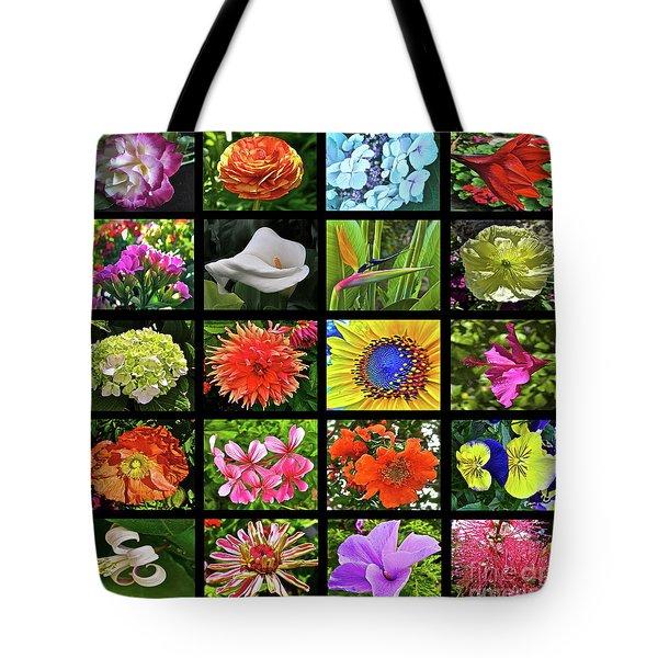 Flower Favorites Tote Bag by Gwyn Newcombe