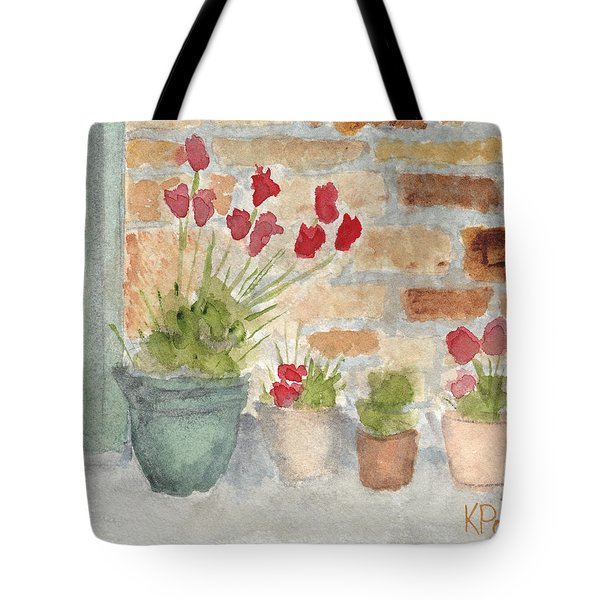 Flower Pots Tote Bag by Ken Powers