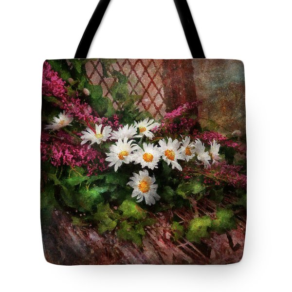 Flower - Still - Seat Reserved Tote Bag by Mike Savad