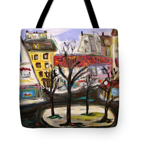 Flowers At The Corner Tote Bag by Mary Carol Williams