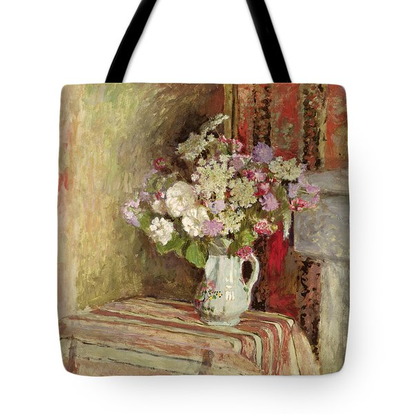 Flowers In A Vase Tote Bag by Edouard Vuillard