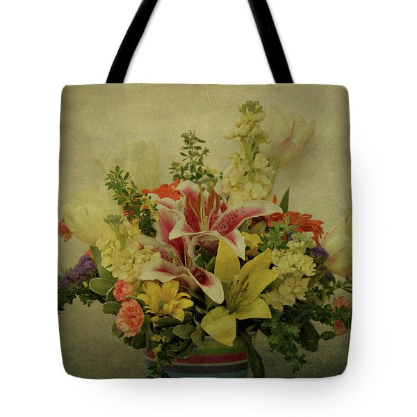 Flowers Tote Bag by Sandy Keeton