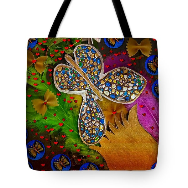 Fly With Me In Love Tote Bag by Pepita Selles