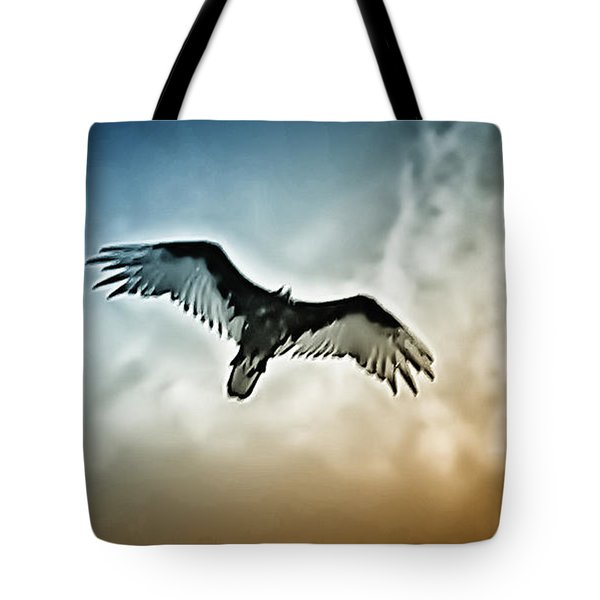 Flying Falcon Tote Bag by Bill Cannon