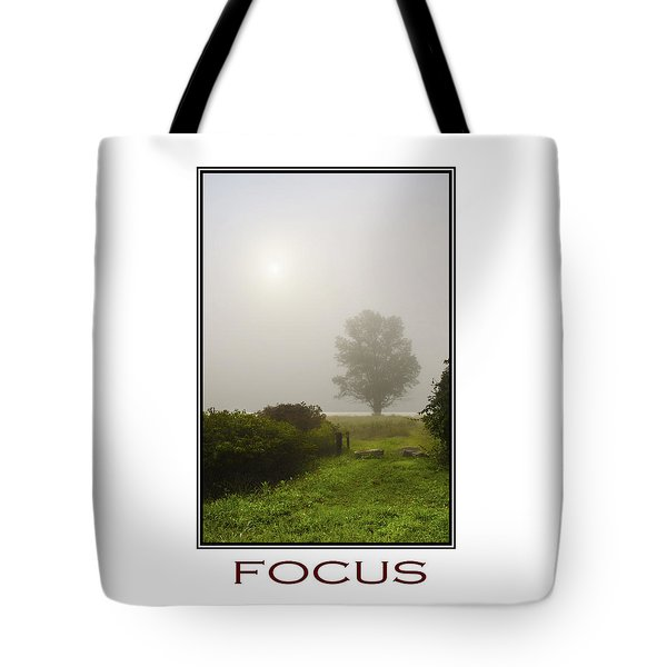 Focus Inspirational Motivational Poster Art Tote Bag by Christina Rollo