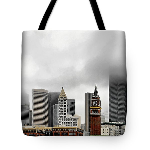 Fog Accents Of Seattle Wa Tote Bag by Christine Till