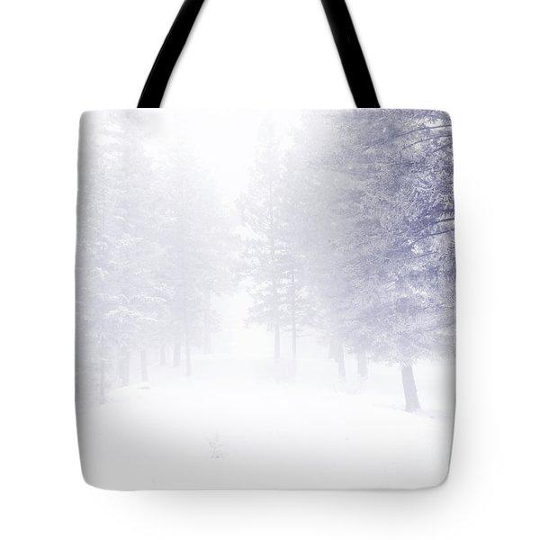 Fog And Snow Tote Bag by Tara Turner