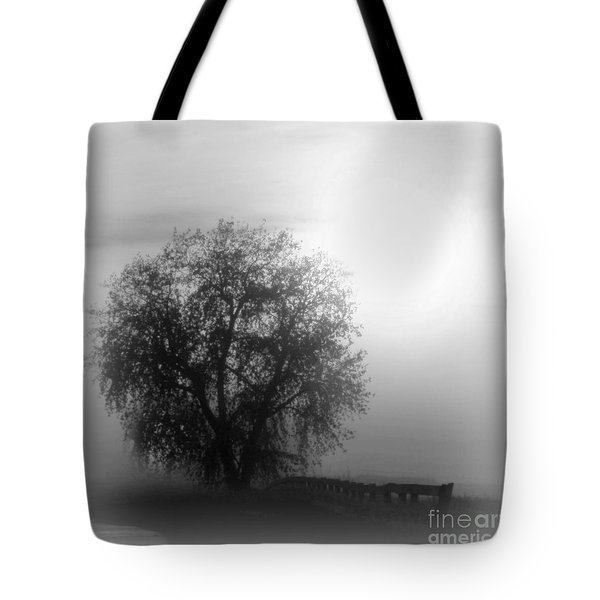 Fog Tree Tote Bag by Barbara Henry
