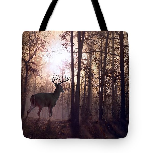 Foggy Morning In Missouri Tote Bag by Bill Stephens