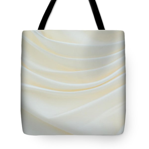 Folded Fabric Waves Tote Bag by Meirion Matthias