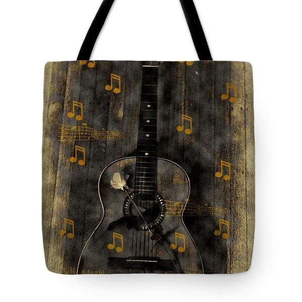 Folk Guitar Tote Bag by Bill Cannon