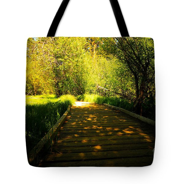 Follow The Path Tote Bag by Cheryl Young