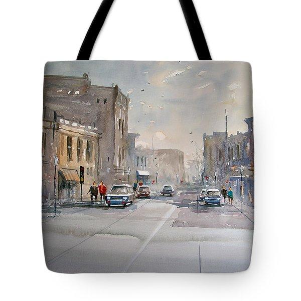 Fond Du Lac - Main Street Tote Bag by Ryan Radke