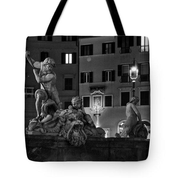 Fontana Del Nettuno Tote Bag by Fabrizio Troiani