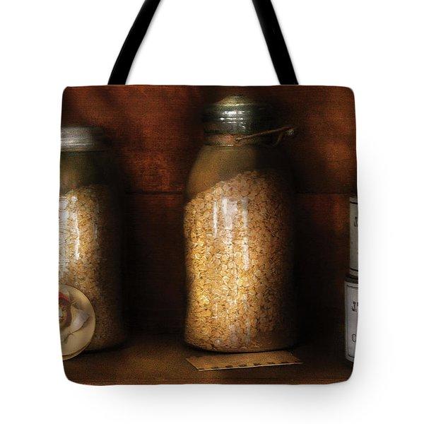 Food - Corn Yams And Oatmeal Tote Bag by Mike Savad