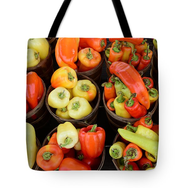 Food - Peppers Tote Bag by Paul Ward