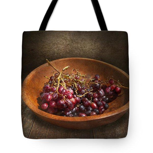 Food - Grapes - A bowl of grapes  Tote Bag by Mike Savad