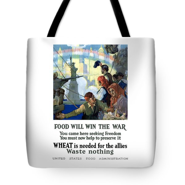 Food Will Win The War Tote Bag by War Is Hell Store
