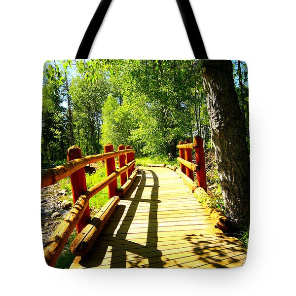 Foot Bridge Tote Bag by Cheryl Young