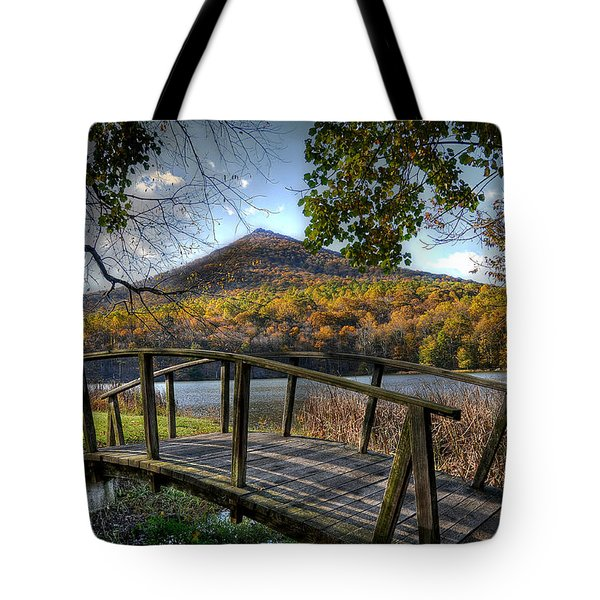 Foot Bridge Tote Bag by Todd Hostetter