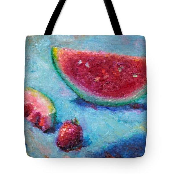 Forbidden Fruit Tote Bag by Talya Johnson