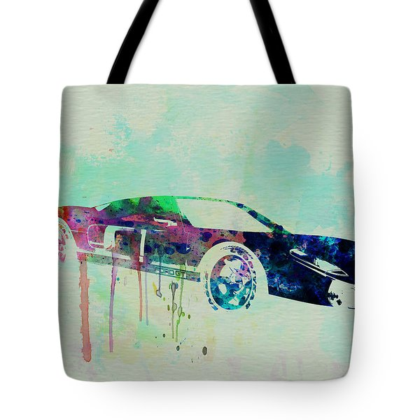 Ford Gt Watercolor 2 Tote Bag by Naxart Studio
