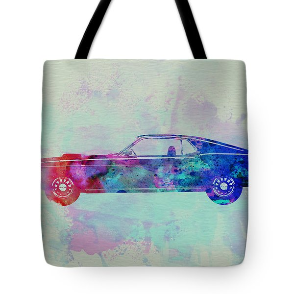 Ford Mustang Watercolor 1 Tote Bag by Naxart Studio