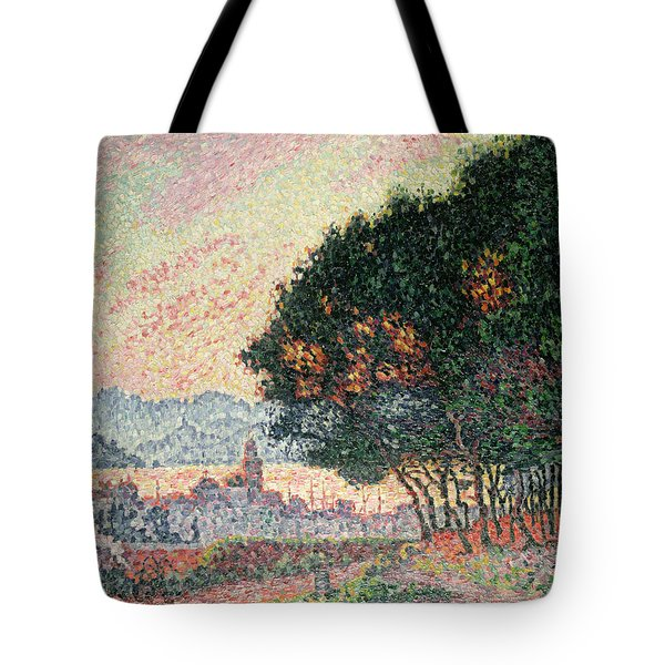 Forest Near St Tropez Tote Bag by Paul Signac