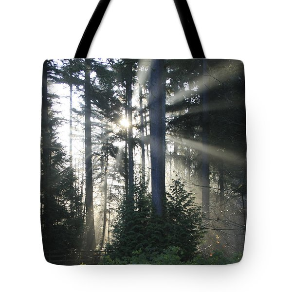 Forest Sunrise Tote Bag by Crista Forest