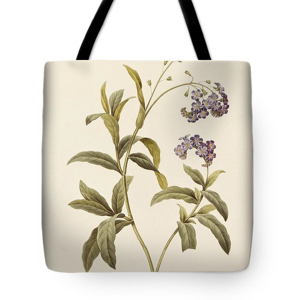 Forget Me Not Tote Bag by Pierre Joseph Redoute