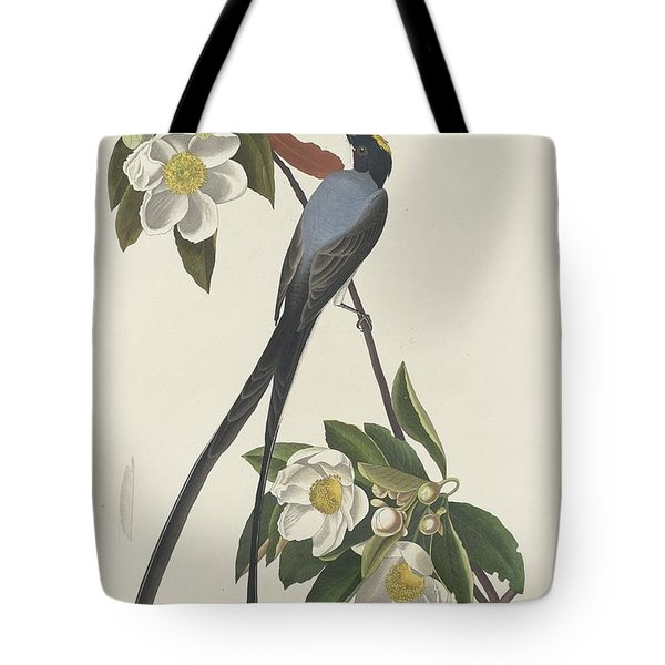 Forked-tail Flycatcher Tote Bag by John James Audubon