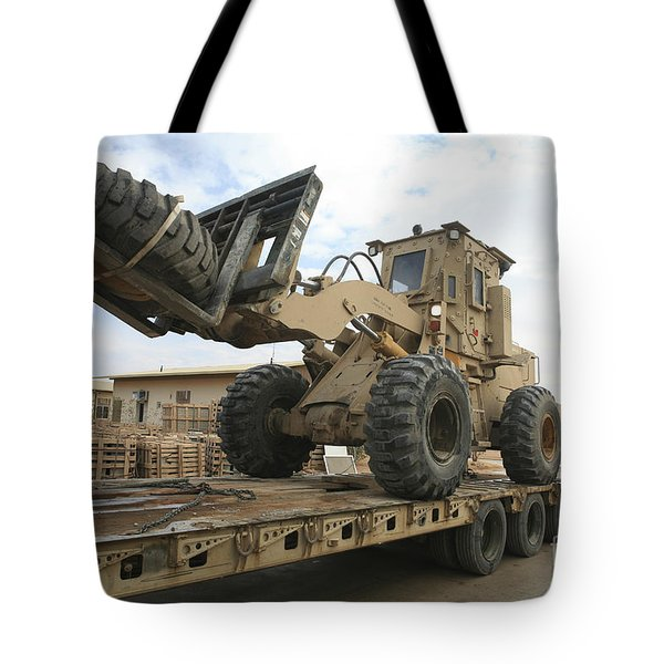 Forklift Is Unloaded Off Of A Logistics Tote Bag by Stocktrek Images