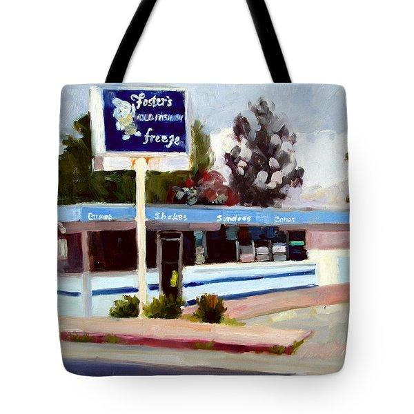 Foster's Freeze Tote Bag by Deborah Cushman