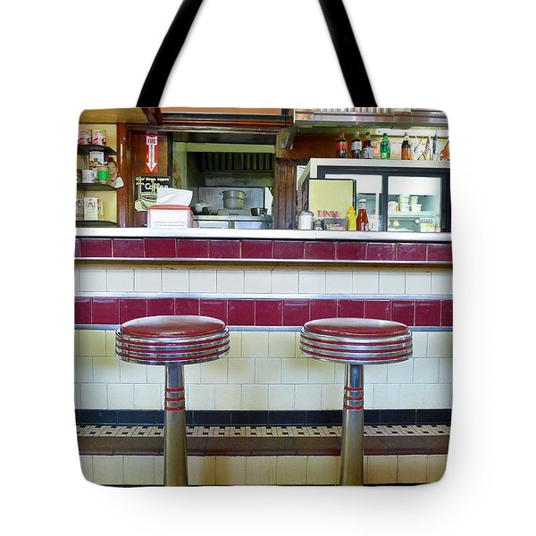 Four Aces Diner Tote Bag by Edward Fielding