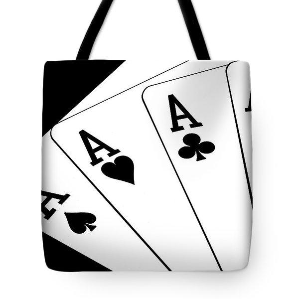Four Aces I Tote Bag by Tom Mc Nemar