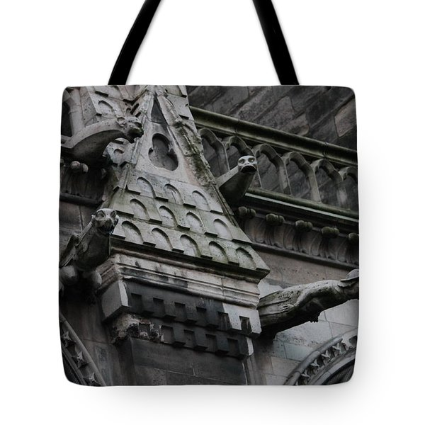 Four Gargoyles On Notre Dame North Tote Bag by Christopher Kirby
