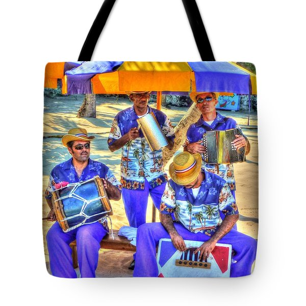 Four Man Band Tote Bag by Michael Garyet