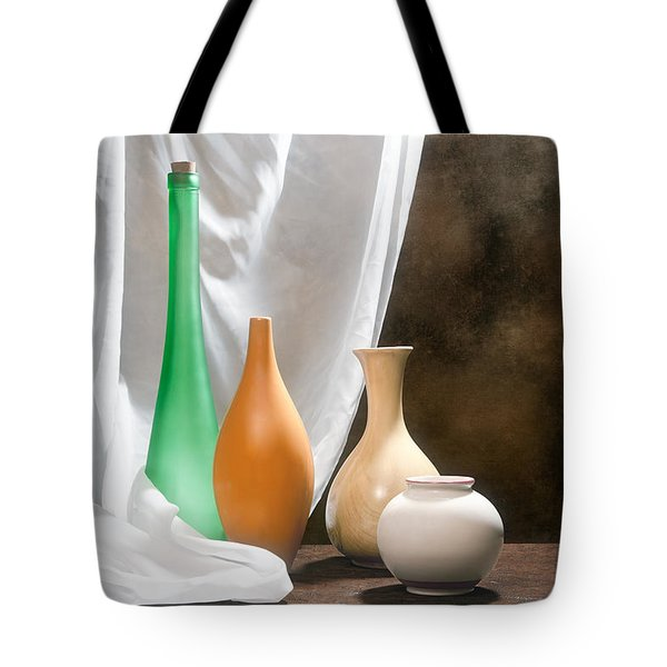 Four Vases I Tote Bag by Tom Mc Nemar