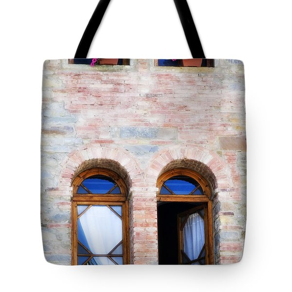 Four Windows Tote Bag by Marilyn Hunt