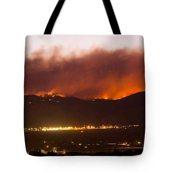 Fourmile Canyon Fire Burning Above North Boulder Tote Bag by James BO  Insogna