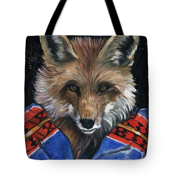 Fox Medicine Tote Bag by J W Baker
