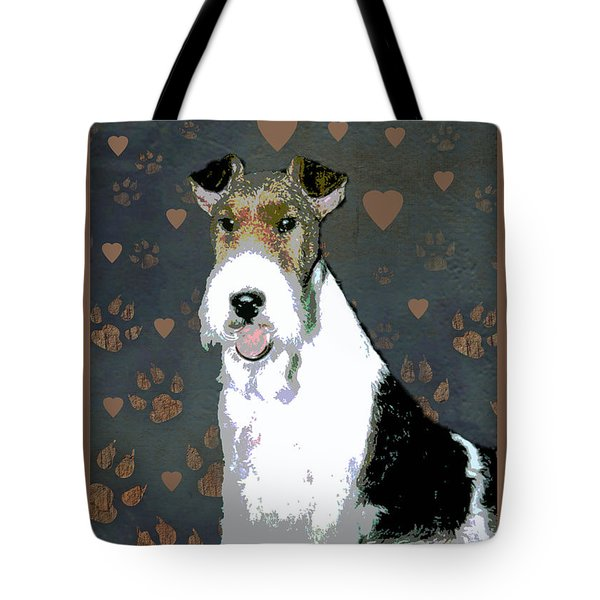 Fox Terrier Wire Tote Bag by One Rude Dawg Orcutt