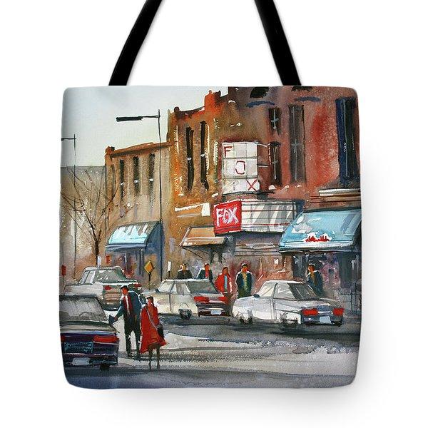 Fox Theater - Steven's Point Tote Bag by Ryan Radke
