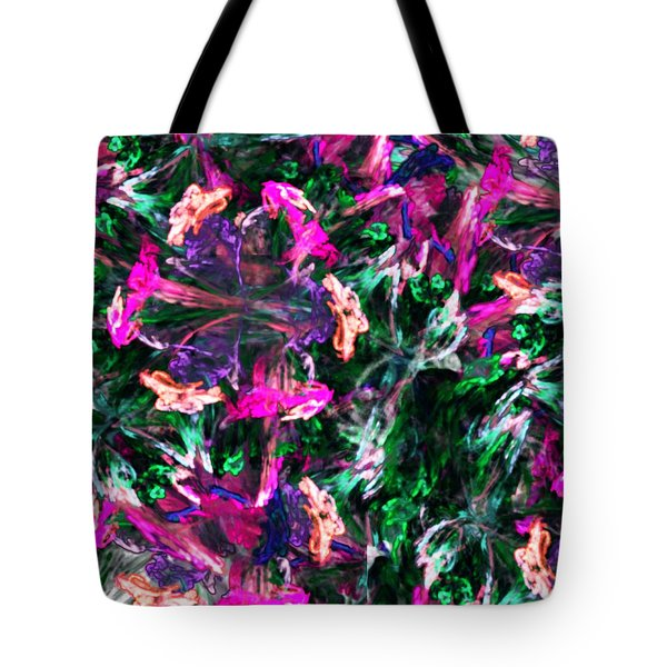 Fractal Floral Riot Tote Bag by David Lane