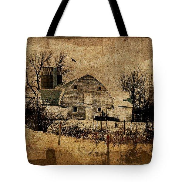 Fragmented Barn  Tote Bag by Julie Hamilton